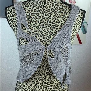 Bebe Rocker chain crochet Vest
